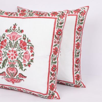Hand Block Printed Cushion Cover 2pc Set 16 inches -Design1