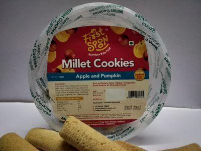 firstspoon millet cookies- apple and pumpkin pack of 2