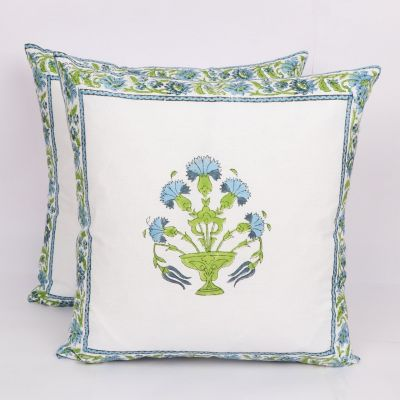 Hand Block Printed Cushion Cover 2pc Set 16 inches -Design3