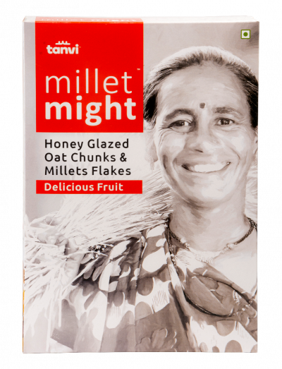 Honey Glazed Oats Cluster Millet Flakes with Delicious Fruits