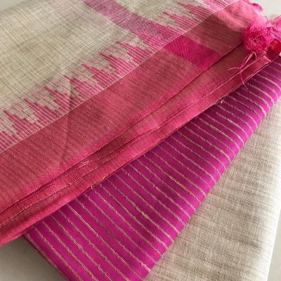 Khadi cotton dress material_Pink