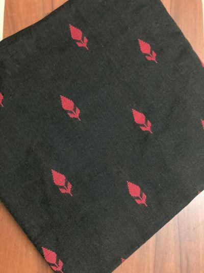 Handloom cotton fabric_ Black and Red