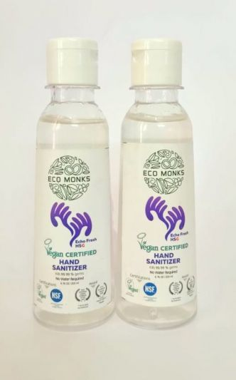 ECO MONKS - VEGAN CERTIFIED HAND SANITIZER (200 Ml COMBO PACK OF 2)