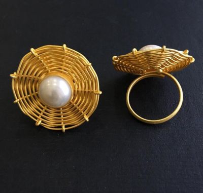 Contemporary Ring_Golden with White