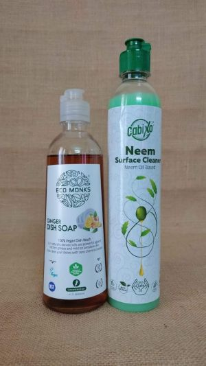 Ginger Dish wash & Neem Surface Cleaner ( combo pack 500 ml each )