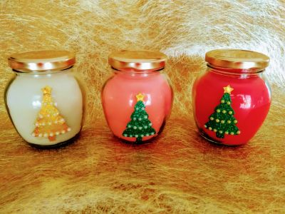 Apple jar scented Christmas candles_350ml