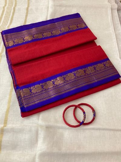 Pure cotton Saree_Red