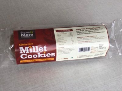 somemore millet cookies(TWO PACK OF EACH VARIETY)  combo_4_chiaseeds and little millet, coconut and foxtail millet , multimillet