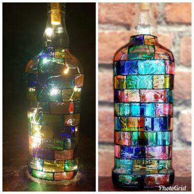 Bottle Glass Painting