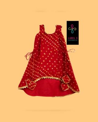 Kids frock-Red